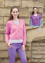 Hayfield Chunky with Wool - 7069 Cardigans Knitting Pattern