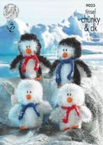 King Cole Tinsel Chunky - 9025 Penguins Knitting Pattern