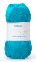Sirdar Cotton 4ply 100g - 515 Bluebird