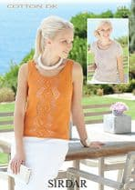 Sirdar Cotton DK Knitting Pattern - 7212 Top and Vest Knitting Pattern