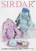 Sirdar Flurry - 2488 Bunny Toys Knitting Pattern