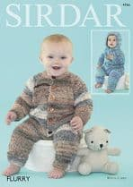 Sirdar Flurry - 4766 All-in-One Suits Knitting Pattern
