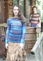 Sirdar Hush Lace Yarn Knitting Pattern - 7097 Jumpers