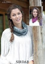 Sirdar Hush Lace Yarn Knitting Pattern - 7098 Snood