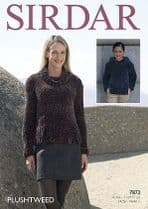 Sirdar Plushtweed - 7872 Sweaters Knitting Pattern