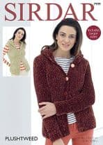 Sirdar Plushtweed - 7999 Cardigans Knitting Pattern