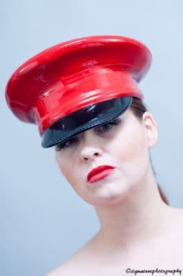 Latex Military Hat without badge in single or twin colours