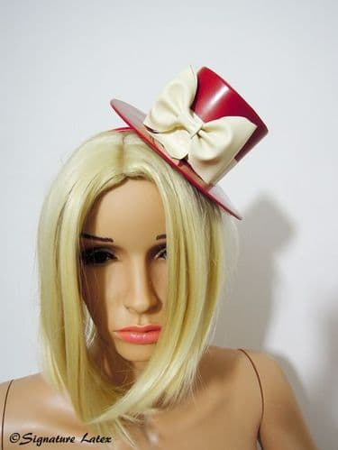 Latex mini top hat with bow