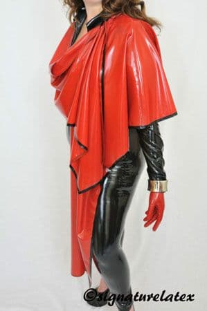 Latex Shawl with trim
