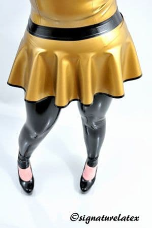 Latex Skate skirt with trim