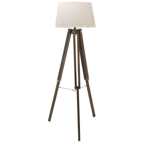 Antique Style Brown Tripod Floor Lamp - Vintage Style for Any Room