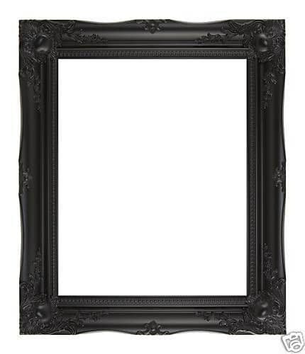 "BLACK ORNATE LARGE WALL MIRROR - 24"" x 34"" (60cm x 85cm) - Superb Quality"