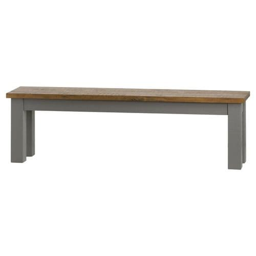 HIGH QUALITY COUNTRY FRENCH GREY SOLID WOOD DINING KITCHEN BENCH