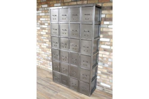 INDUSTRIAL GREY METAL EXTRA LARGE CHEST DRAWERS STORAGE UNIT (DX5184)
