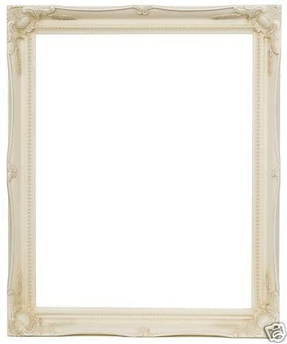 "IVORY CREAM ORNATE WALL MIRROR - 20"" x 24"" (50cm x 60cm) - Superb Quality"