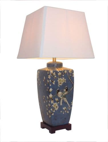 Large Oriental Ceramic Porcelain Table Lamp (M10014) - Chinese Mandarin Style
