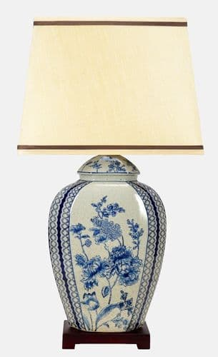 Large Oriental Ceramic Porcelain Table Lamp (M11040) - Chinese Mandarin Style
