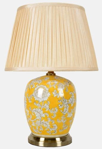 Large Oriental Ceramic Porcelain Table Lamp (M11131) - Chinese Mandarin Style