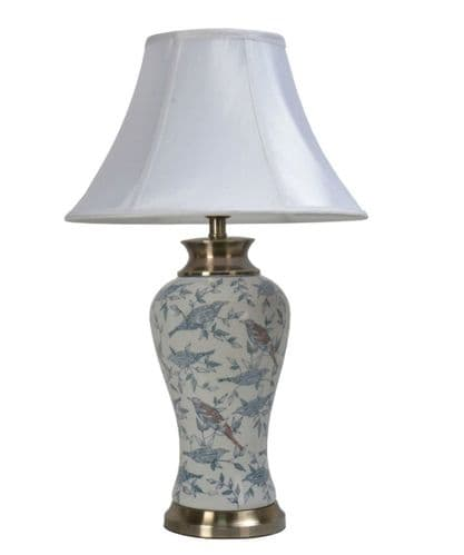 Large Oriental Ceramic Porcelain Table Lamp (M11459) - Chinese Mandarin Style