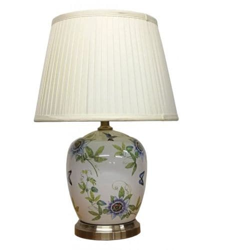 Large Oriental Ceramic Porcelain Table Lamp (M11753) - Chinese Mandarin Style