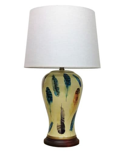 Large Oriental Ceramic Porcelain Table Lamp (M11956) - Chinese Mandarin Style
