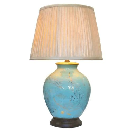 Large Oriental Ceramic Porcelain Table Lamp (M12257) - Chinese Mandarin Style