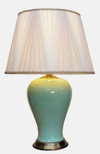 Large Oriental Ceramic Porcelain Table Lamp (M15057) - Chinese Mandarin Style