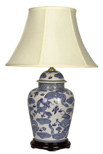 Large Oriental Ceramic Porcelain Table Lamp (M7398) - Chinese Mandarin Style