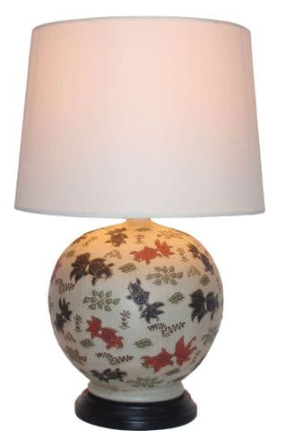 Large Oriental Ceramic Porcelain Table Lamp (M9956) - Chinese Mandarin Style