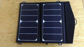 Lightweight solar panel bag for charging your phone/Ipad