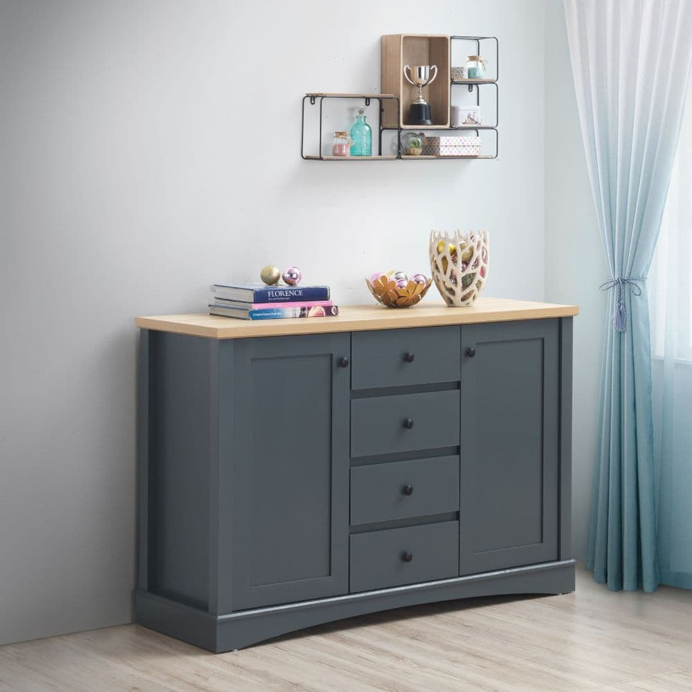 Carden Dark Grey Sideboard with 3 Drawers and 2 Doors