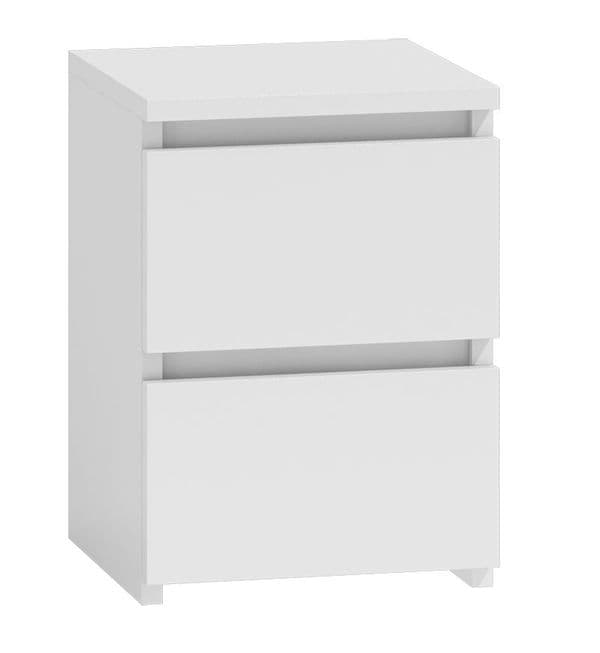 Moderna White - 2 Drawer