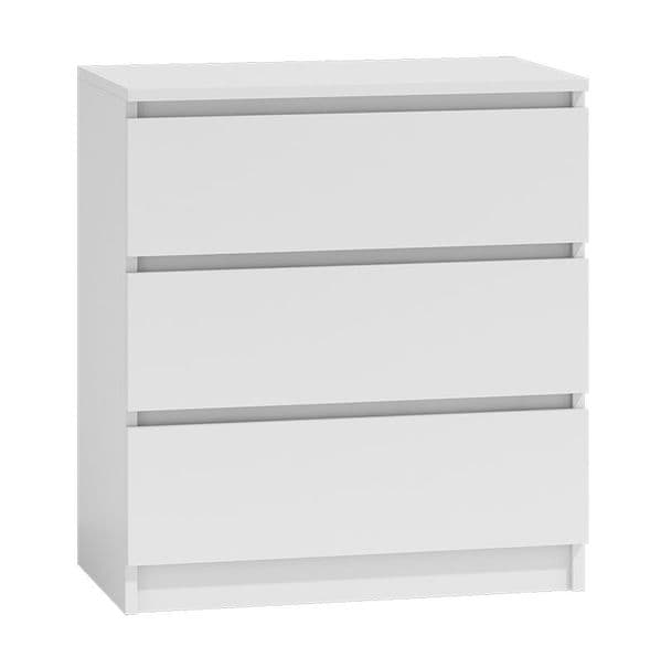 Moderna White- 3 Drawer