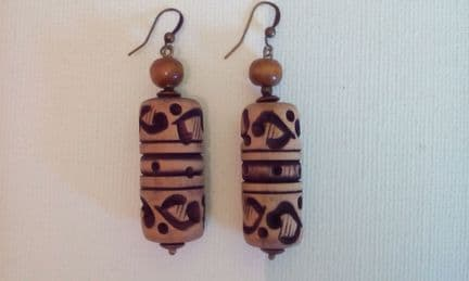 Big cork earrings
