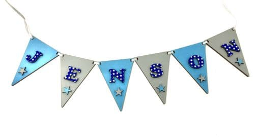 Baby Bunting Garland Pink or Blue Nursery Name Decoration