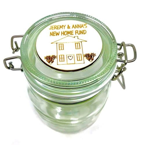First / New Home Savings Fund Jar Personalised