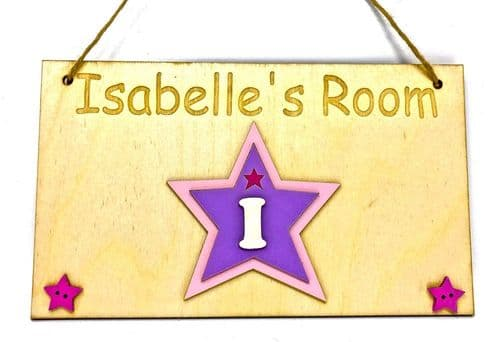 Girls Bedroom Plaque, Girl's Bedroom Sign, Personalised Name Plaque,