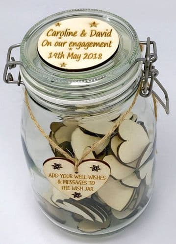Personalised Wish Jar Engagement Guest Book