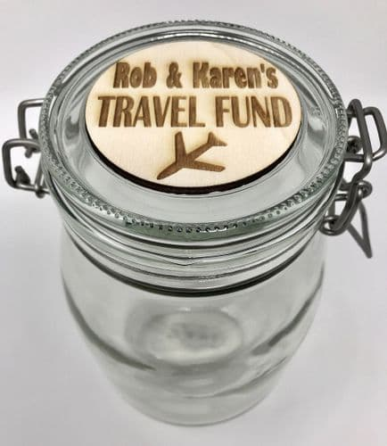 Travel Fund Savings Jar Personalised